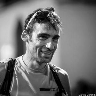 Luis Alberto Hernando tras cruzar la meta de Ultra Pirineu 2017