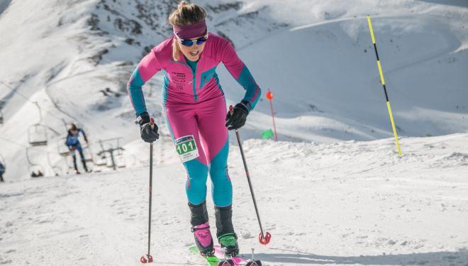 Clàudia Galicia en el Open Vall de Boí 2018, en el que se proclamó campeona de España de Cronoescalada