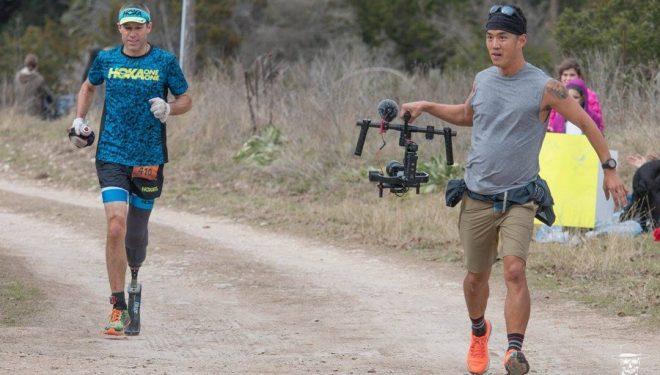 Dave Mackey filmado por Billy Yang en la Bandera 50K 2018