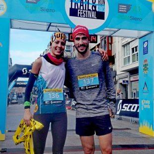 Sheila Avilés y Pablo Villa, vencedores de la Siero Total Trail 2018