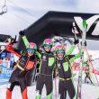 Podio masculino del Campeonato de España de Sprint 2018: Antonio Alcalde (izda), Oriol Cardona y Marc Pinsach