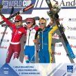 Podio femenino de la carrera vertical de la Font Blanca 2018