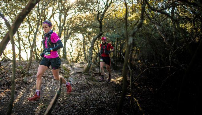 Eli Gordón en el Marathon del Trail Rocacorba 2018, que ganó