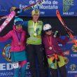 Podio femenino del Campeonato de España de Sprint 2018: Clàudia Galicia(izda), Marta García y Júlia Casanovas