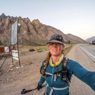 Sunny Stroeer a su regreso a Penintentes tras completar el FKT al Aconcagua 360º en febrero de 2018