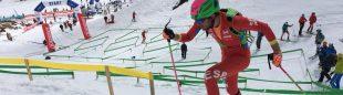 Antonio Alcalde en el Sprint de los Campeonatos de Europa de Esquí de Montaña 2018 que fueron suspendidos
