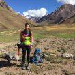 Daniela Sandoval en la aclimatación para su récord al Aconcagua en enero de 2018
