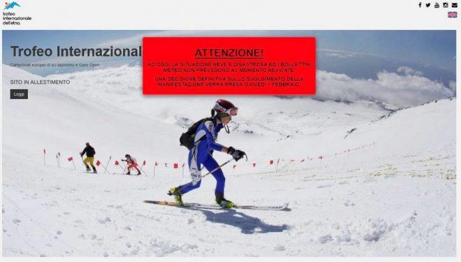 Captura de la web de los Campeonatos de Europa 2018 de Esquí de Montaña
