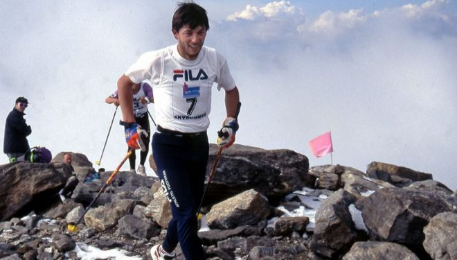 Fabio Meraldi en Monte Rosa Skymarathon 1996