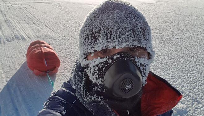 Enrique Trull Maravilla en la Yukon Arctic Ultra 2018