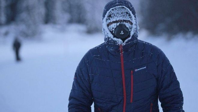 El valenciano Kike Trull en la Yukon Arctic Ultra 2018