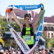 Pablo Villa entrando en la meta de Transgrancanaria Advanced 2018, en la que se proclamó campeón de España