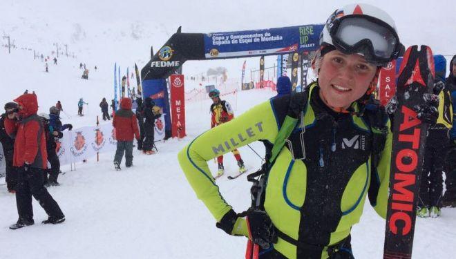 Mireia Miró en la Causiat Extreme 2018, Campeonato de España Individual de Esquí de montaña, que ganó
