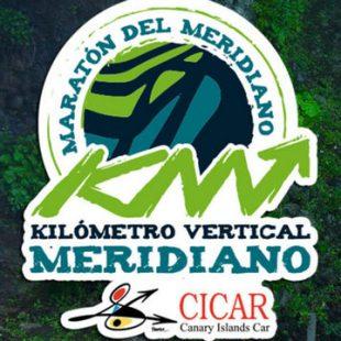 Cartel con los ganadores del Kilómetro Vertical Meridiano 2018: Marc Sabater y Sheila Avilés