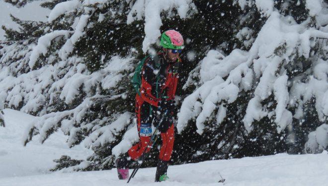 Mónica Sáez en la Individual de Panticosa en la que se proclamó vencedor de la Copa de España 2018