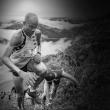 Joe Gray utilizando el potenciómetro en una carrera por montaña