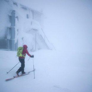 Núria Picas en su travesía alpina Der Lange Weg en marzo de 2018