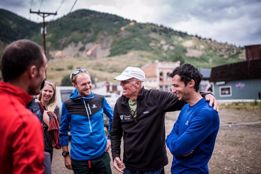 Bill Dooper con Kilian Jornet, Iker Karrera y otros corredores en la Hardrock 2017
