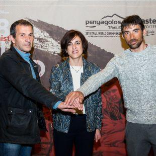 Tico Cervera(izda), Elena Tejedor y Luis Alberto Hernando