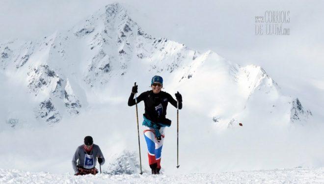 Marta García compitiendo en el Open de Esquí de Montaña de la Elbrus Race 2016