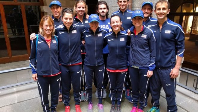 Selección norteamericana de trail running en el Campeonato del Mundo 2017 en el Trail Sacred Forests