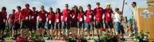 La selección española RFEA, en la ceremonia de apertura del Campeonato del Mundo de Trail 2017 IAU-ITRA (Trail Sacred Forests)