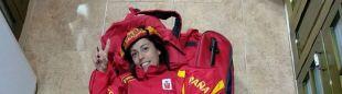 Gemma Arenas con la equipación de la selección española para el Mundial 2018 de Penyagolosa Trails
