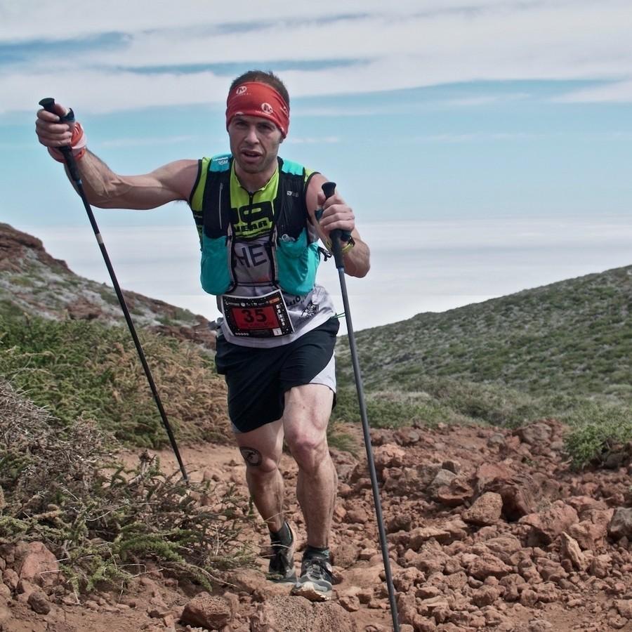 Pere Aurell en Transvulcania 2018, que ganó