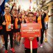 Equipo holandés en el desfile de selecciones