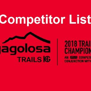 Cartel de la lista de corredores definitiva para el Mundial de Penyagolosa Trails 2018