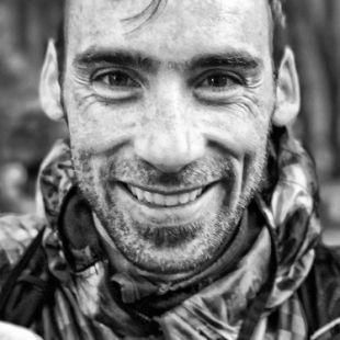 Luis Alberto Hernando antes de tomar salida Maratón Transvulcania 2017 que ganó.