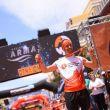 Pere Aurell en su entrada a meta del Ultramaratón de Transvulcania 2018, que ganó