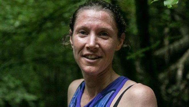 Christel Dewalle en el Kilómetro Vertical de Zegama 2018