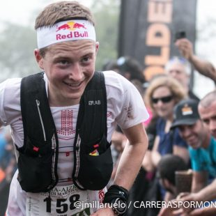 Rémi Bonnet en la Zegama Aizkorri 2018, que ganó