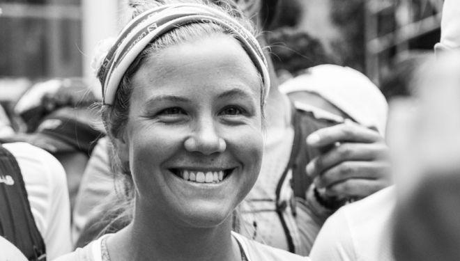Emelie Forsberg en la salida de Zegama 2018, en la que fue séptima