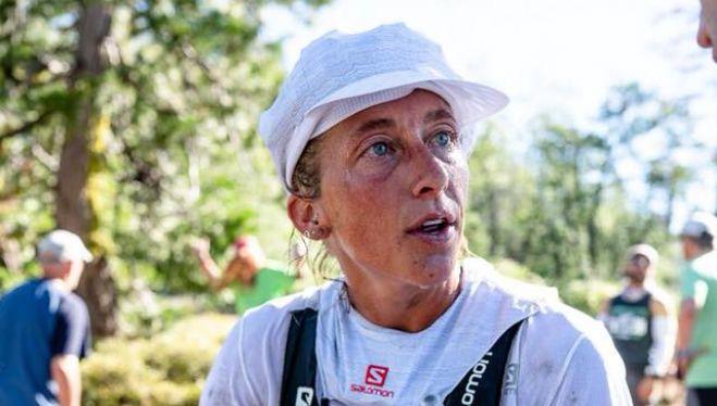 Courtney Dauwalter en la Western States 100 2018, que ganó