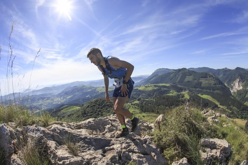 Andreu Simón en la Zumaiaa Flysch Trail 2018, en la que ganó la Copa de España