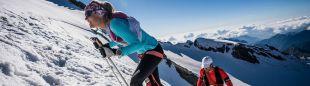 Emelie Forsberg y Kilian Jornet en el Monte Rosa Skymarathon 2018, en la que quedaron terceros