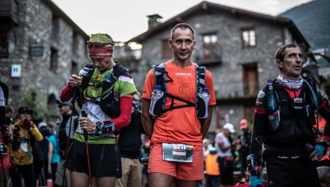 Imanol Alesón en la salida de Eufòria, en la Andorra Ultra Trail 2018