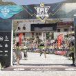 Marc Pinsach entra en la meta de la Buff Epic Trail 2018, que ganó