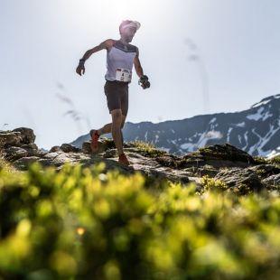 Aritz Egea en la Marathon du Mont-Blanc 2018, en la que fue quinto