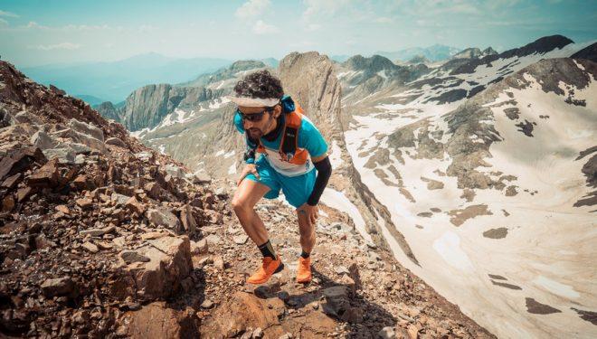 Aritz Egea en su récord al Posets en julio de 2018