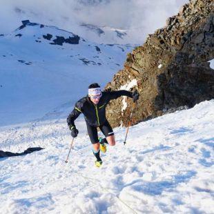 Marco de Gasperi en su récord al Monte Rosa en junio de 2018
