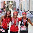Podio femenino de la Trail Vielha-Molières 3010 2018: Silvia Puigarnau (izda), Marta Riba y Gemma Arenas