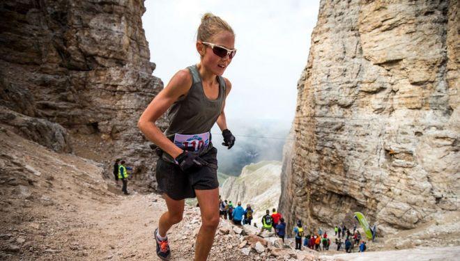 Laura Orgué en la Dolomyths Run 2018, que ganó