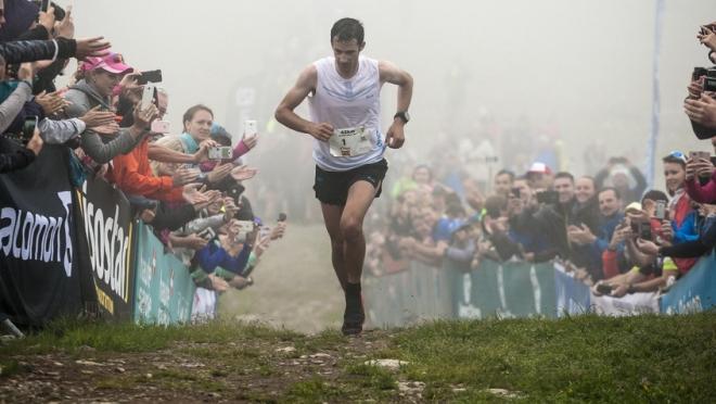 Kilian Jornet en la Marathon du Mont Blanc 2017