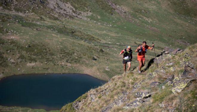 Imanol Alesón y Julián Morcillo en Eufòria, en la Andorra Ultra Trail 2018