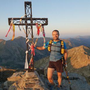 Pablo Criado en su travesía non-stop de los Pirineos por el GR10 francés en agosto de 2018