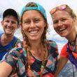 Hillary Allen con sus amigos en su proyecto de completar el recorrido de la Hardrock 100 en julio de 2018