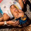Sheila Avilés en la meta de la Skyrace Comapedrosa 2018
